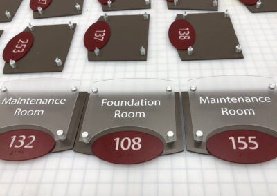 ADA compliant room number signs