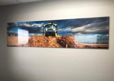 Murphy Tractor backlit acrylic print sign