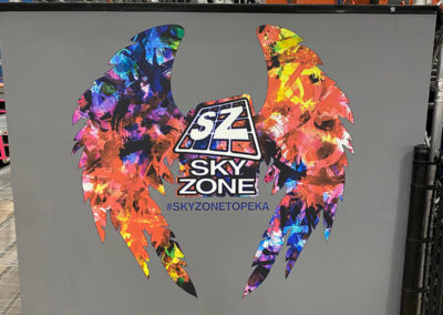 Contour Cut Adhesive Vinyl Wall Print in the shape of wings
