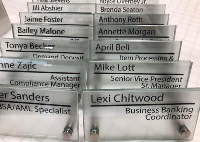 Nameplate office signage