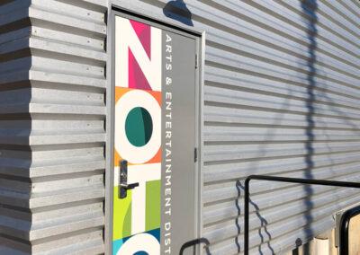 Colorful Vinyl Door Wrap