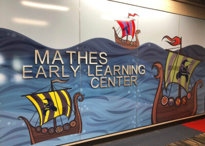 Vinyl Wall Art Print of Viking Ships for Mathes Early Learning Center